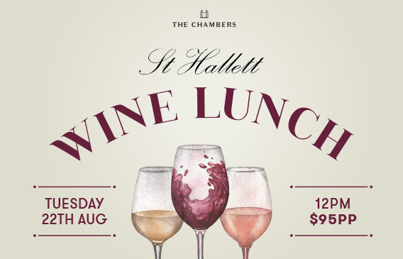 St Hallett Wine Lunch   Events in Cairns   The Chambers